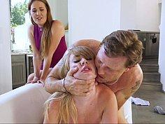 Naughty daughter punished