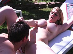 Poolside pounding for a MILF